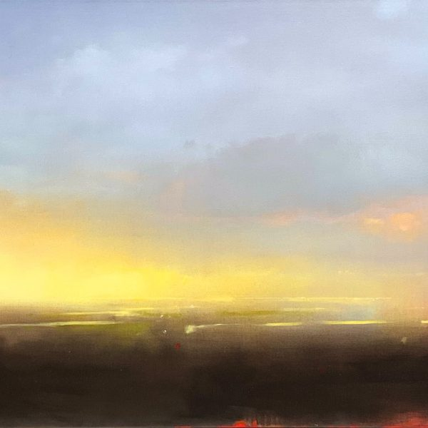 Morning Start, landscape and sky painting by Joe Fidia   Effusion Art Gallery + Cast Glass Studio, Invermere BC