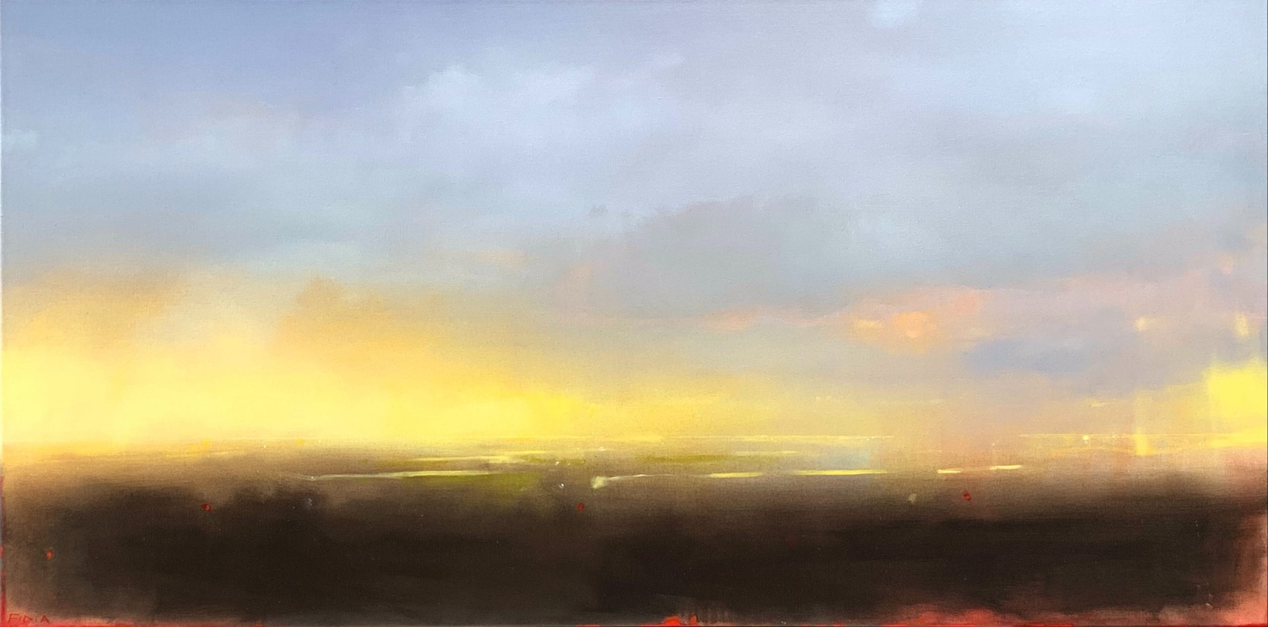 Morning Start, landscape and sky painting by Joe Fidia | Effusion Art Gallery + Cast Glass Studio, Invermere BC
