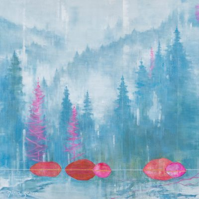 Closer to You, acrylic landscape painting by Gina Sarro   Effusion Art Gallery + Cast Glass Studio, Invermere BC