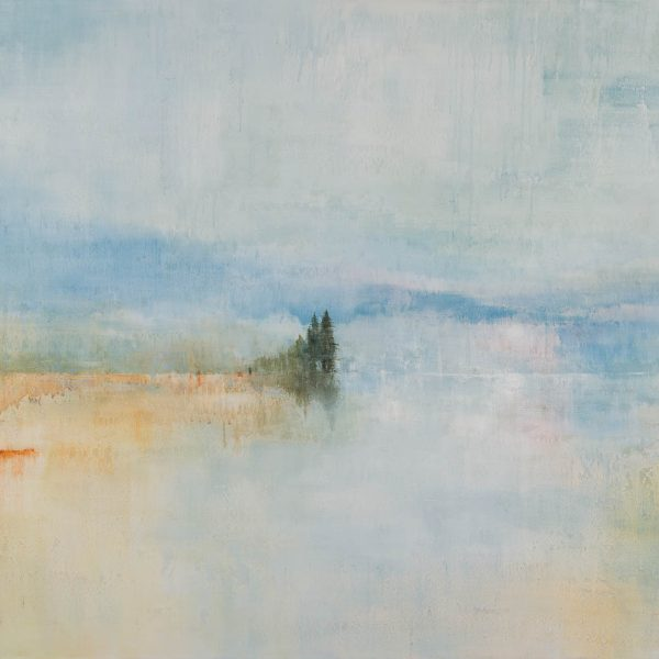 New Beginnings, acrylic landscape painting by Gina Sarro | Effusion Art Gallery + Cast Glass Studio, Invermere BC