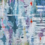 Reflected Moments, acrylic landscape painting by Gina Sarro | Effusion Art Gallery + Cast Glass Studio, Invermere BC