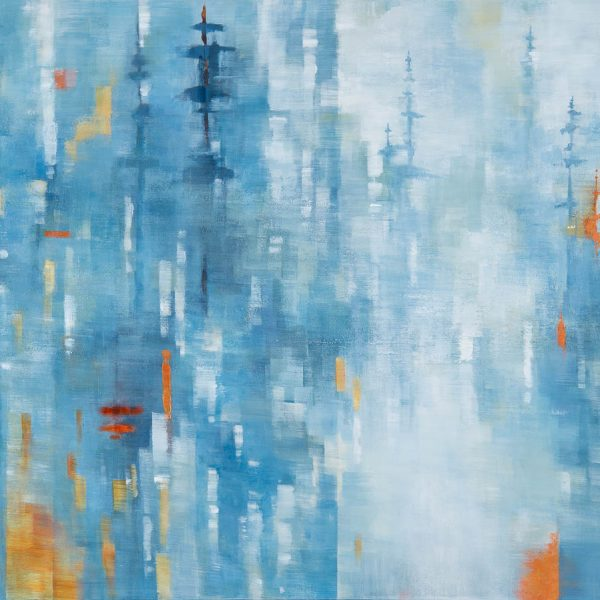 Standing Still, acrylic landscape painting by Gina Sarro | Effusion Art Gallery + Cast Glass Studio, Invermere BC