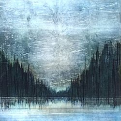 Cathedral, mixed media landscape painting by David Graff | Effusion Art Gallery + Cast Glass Studio, Invermere BC
