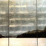Lake's End #2, mixed media landscape by David Graff | Effusion Art Gallery + Cast Glass Studio, Invermere BC