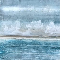 Wave Theory, mixed media seascape painting by David Graff | Effusion Art Gallery + Cast Glass Studio, Invermere BC