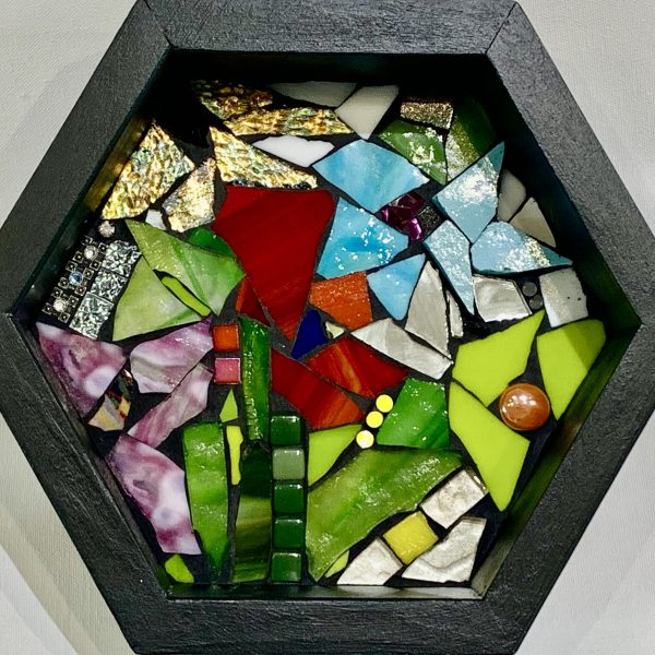 Add a Little Spark, stained glass mosaic by Kimberly Kiel   Effusion Art Gallery + Cast Glass Studio, Invermere BC