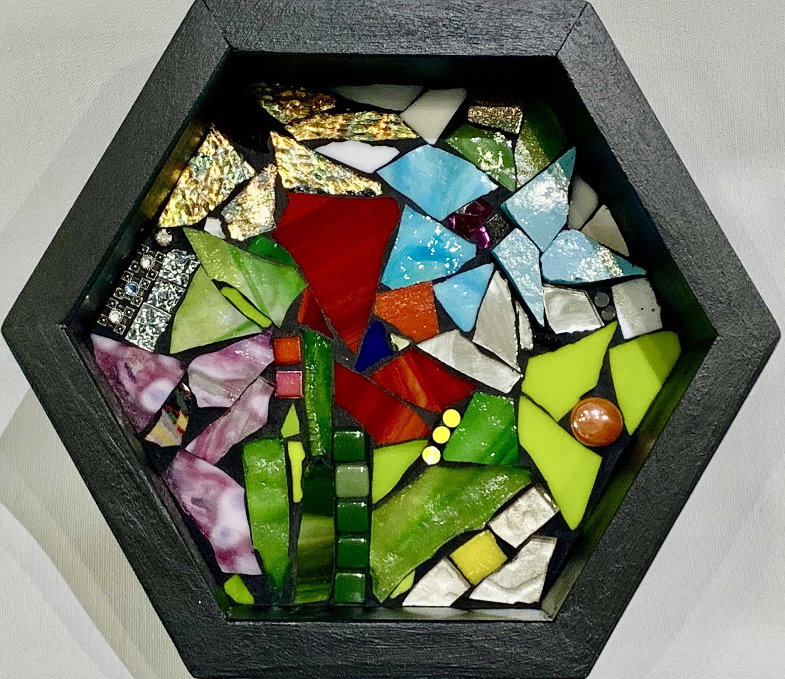 Add a Little Spark, stained glass mosaic by Kimberly Kiel | Effusion Art Gallery + Cast Glass Studio, Invermere BC