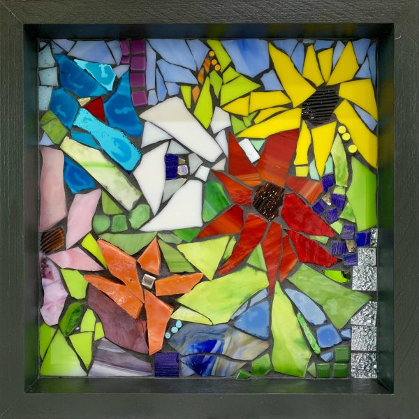 All I'll Ever Become, stained glass mosaic by Kimberly Kiel   Effusion Art Gallery + Cast Glass Studio, Invermere BC