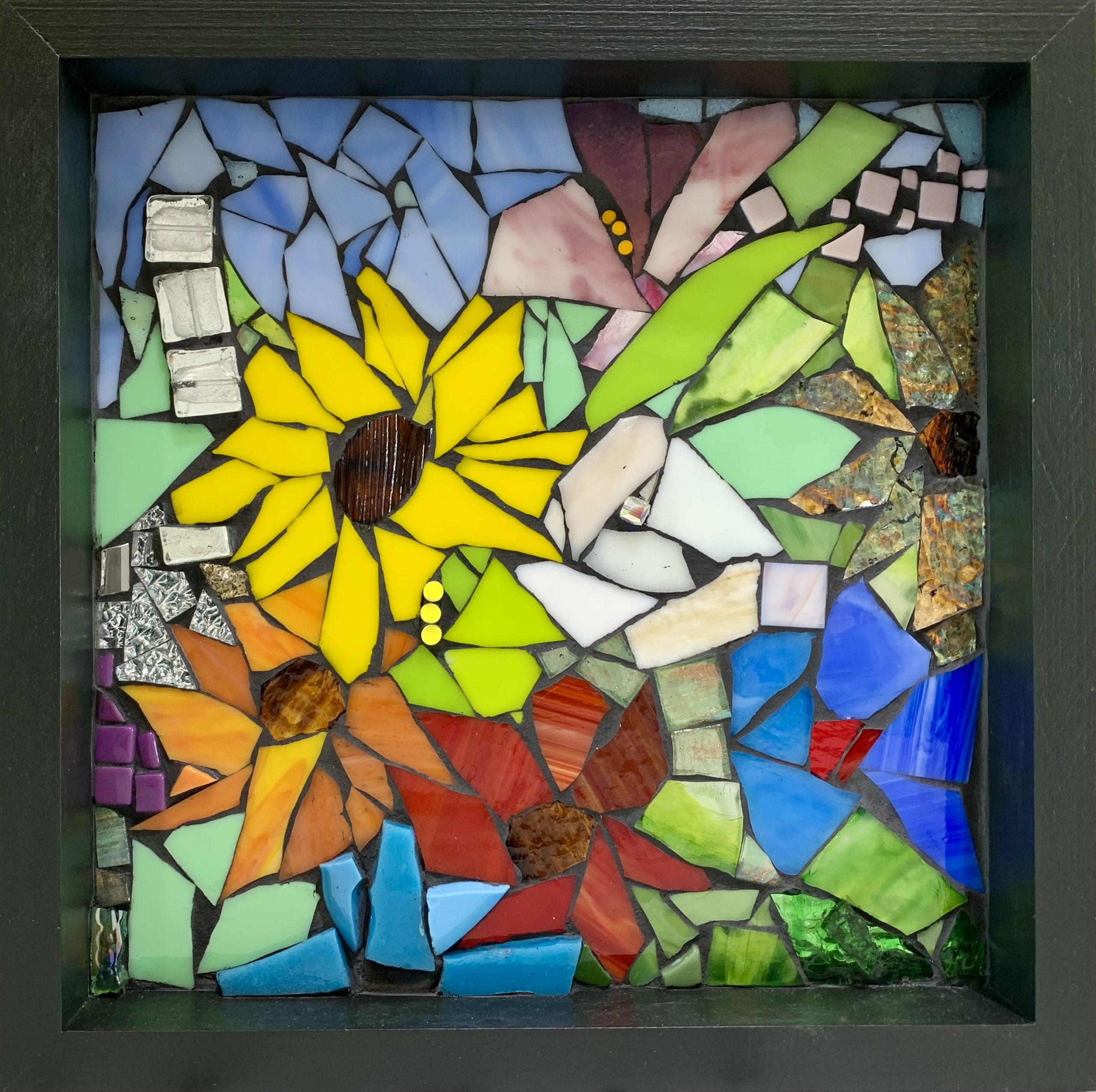 Collapsed in Sunbeams, stained glass mosaic by Kimberly Kiel | Effusion Art Gallery + Cast Glass Studio, Invermere BC