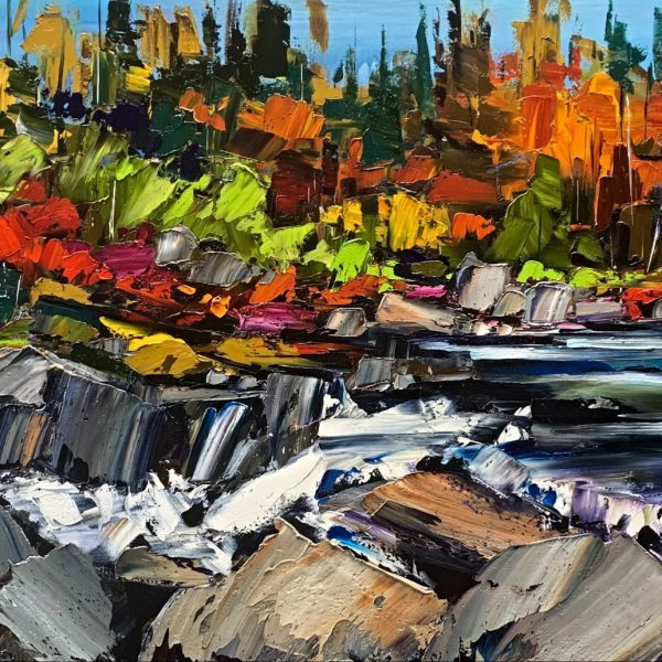 Every Now and Then, oil landscape painting by Kimberly Kiel   Effusion Art Gallery + Cast Glass Studio, Invermere BC