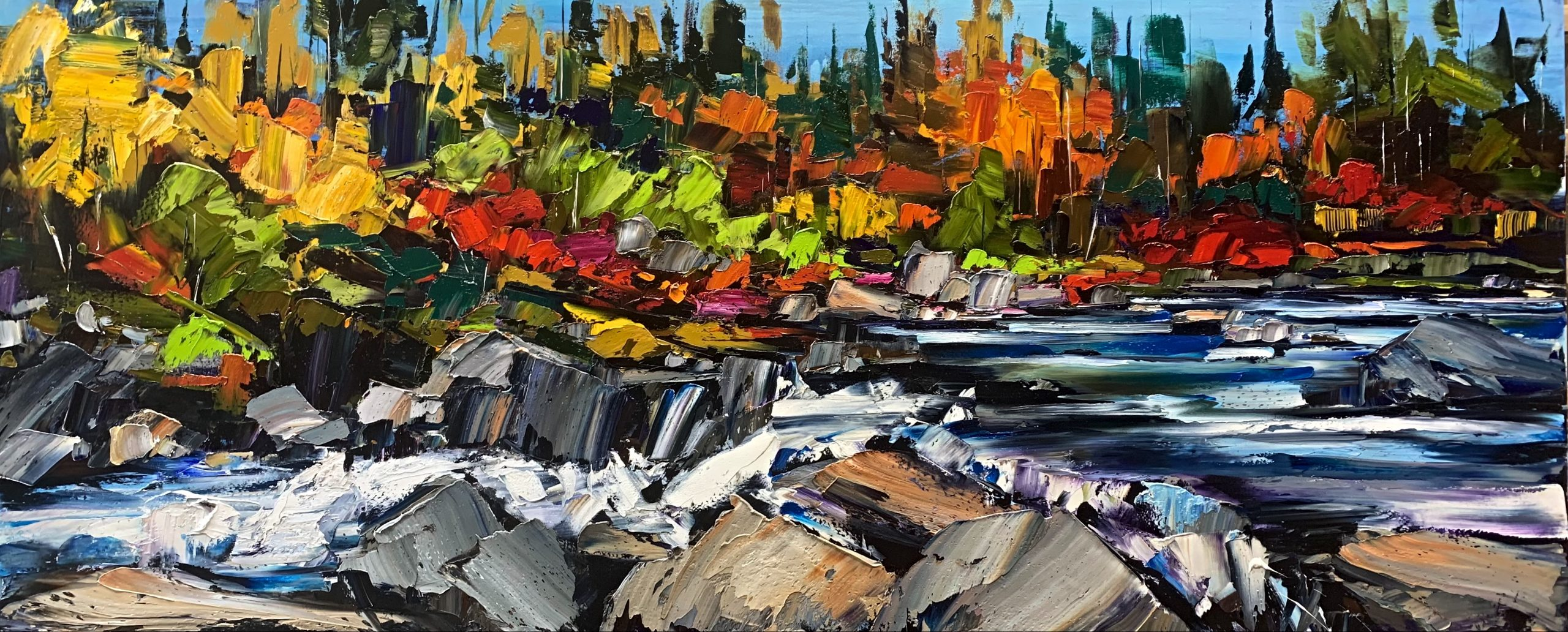 Every Now and Then, oil landscape painting by Kimberly Kiel | Effusion Art Gallery + Cast Glass Studio, Invermere BC