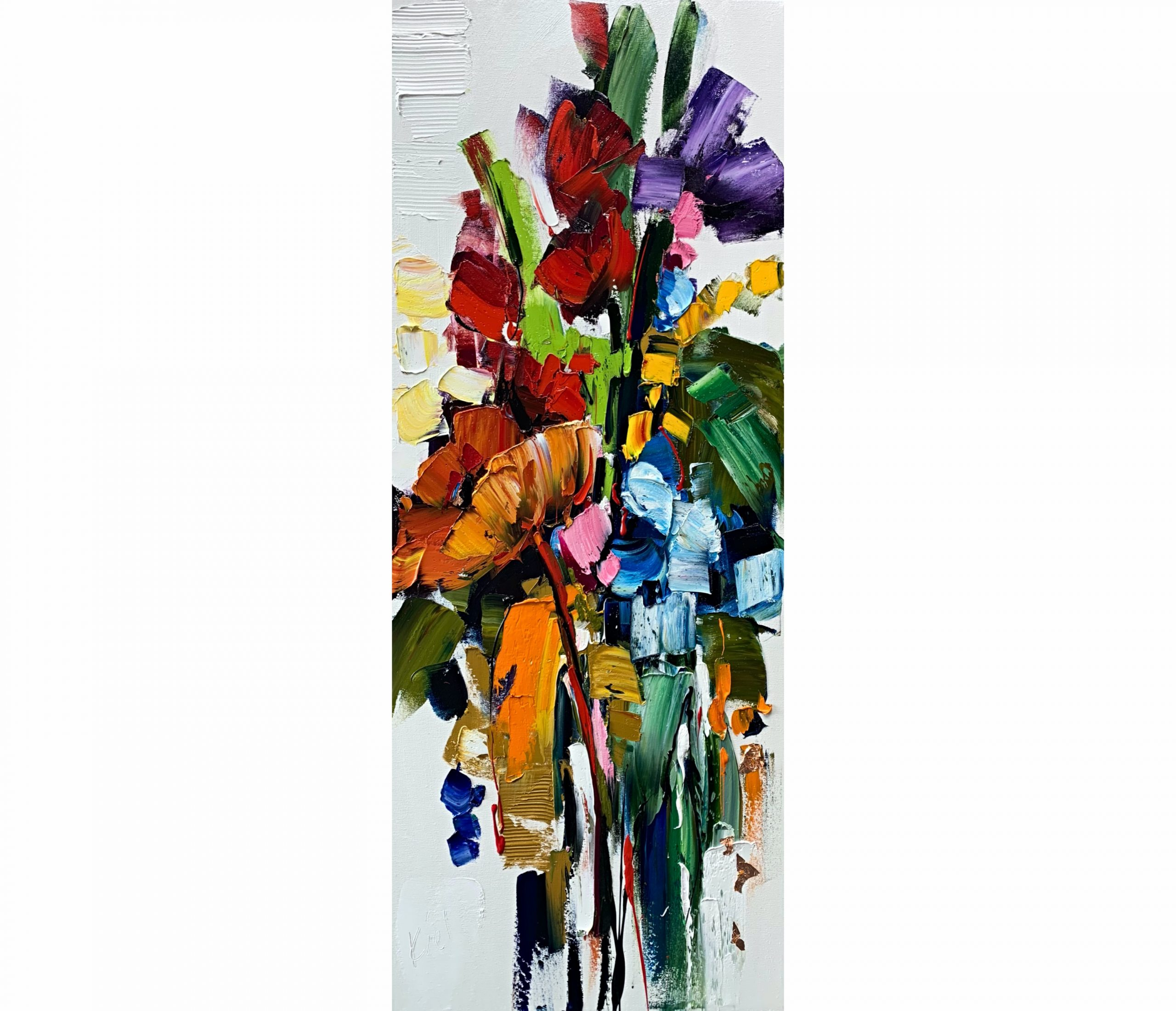 Hanging in the Balance, oil flower painting by Kimberly Kiel   Effusion Art Gallery + Cast Glass Studio, Invermere BC