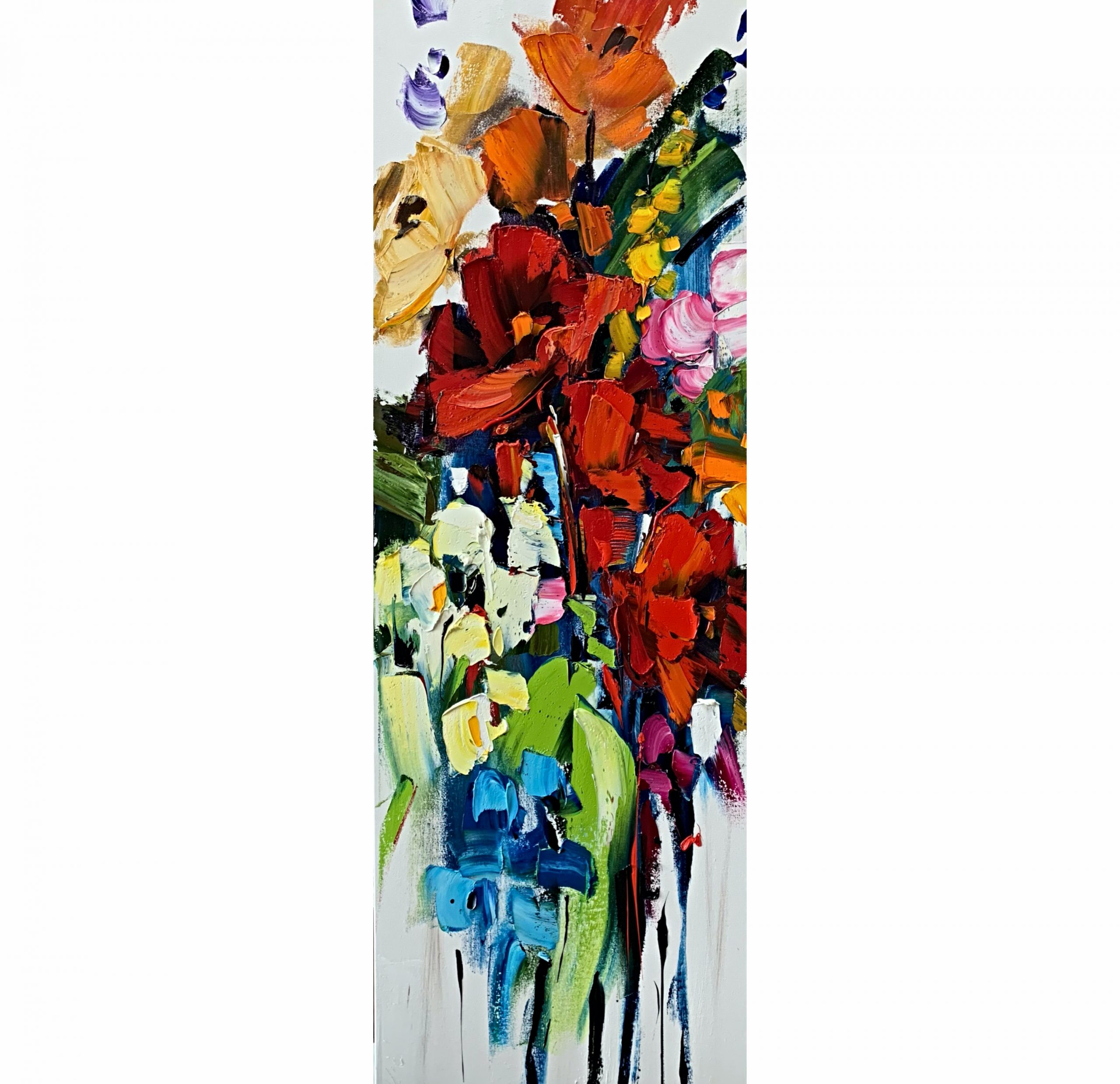 How Does Your Garden Grow, oil flower painting by Kimberly Kiel | Effusion Art Gallery + Cast Glass Studio, Invermere BC