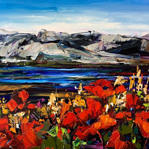 There's Freedom Here, oil landscape painting by Kimberly Kiel   Effusion Art Gallery + Cast Glass Studio, Invermere BC