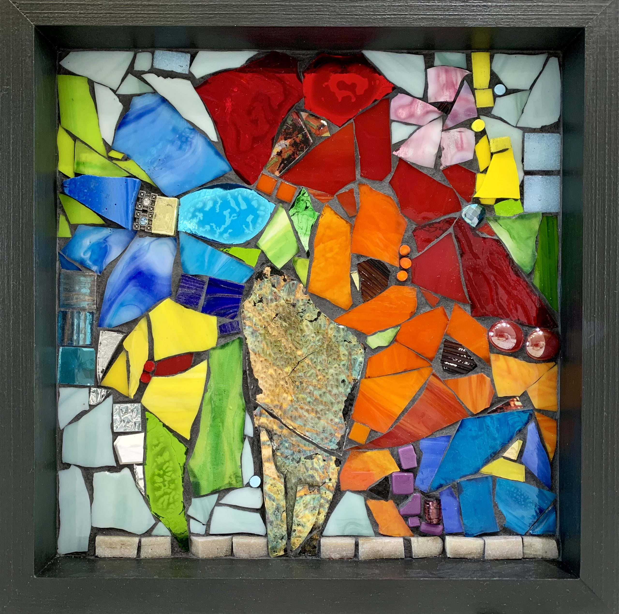 To Have and to Hold, stained glass mosaic by Kimberly Kiel | Effusion Art Gallery + Cast Glass Studio, Invermere BC