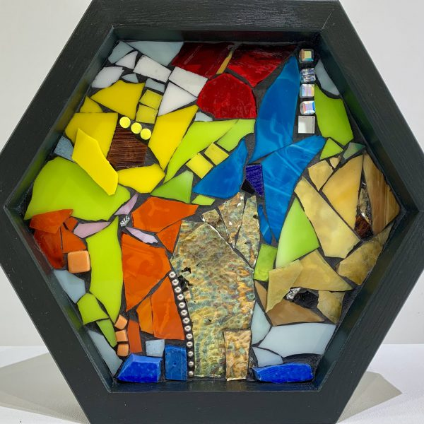 To Light Up, stained glass mosaic by Kimberly Kiel   Effusion Art Gallery + Cast Glass Studio, Invermere BC