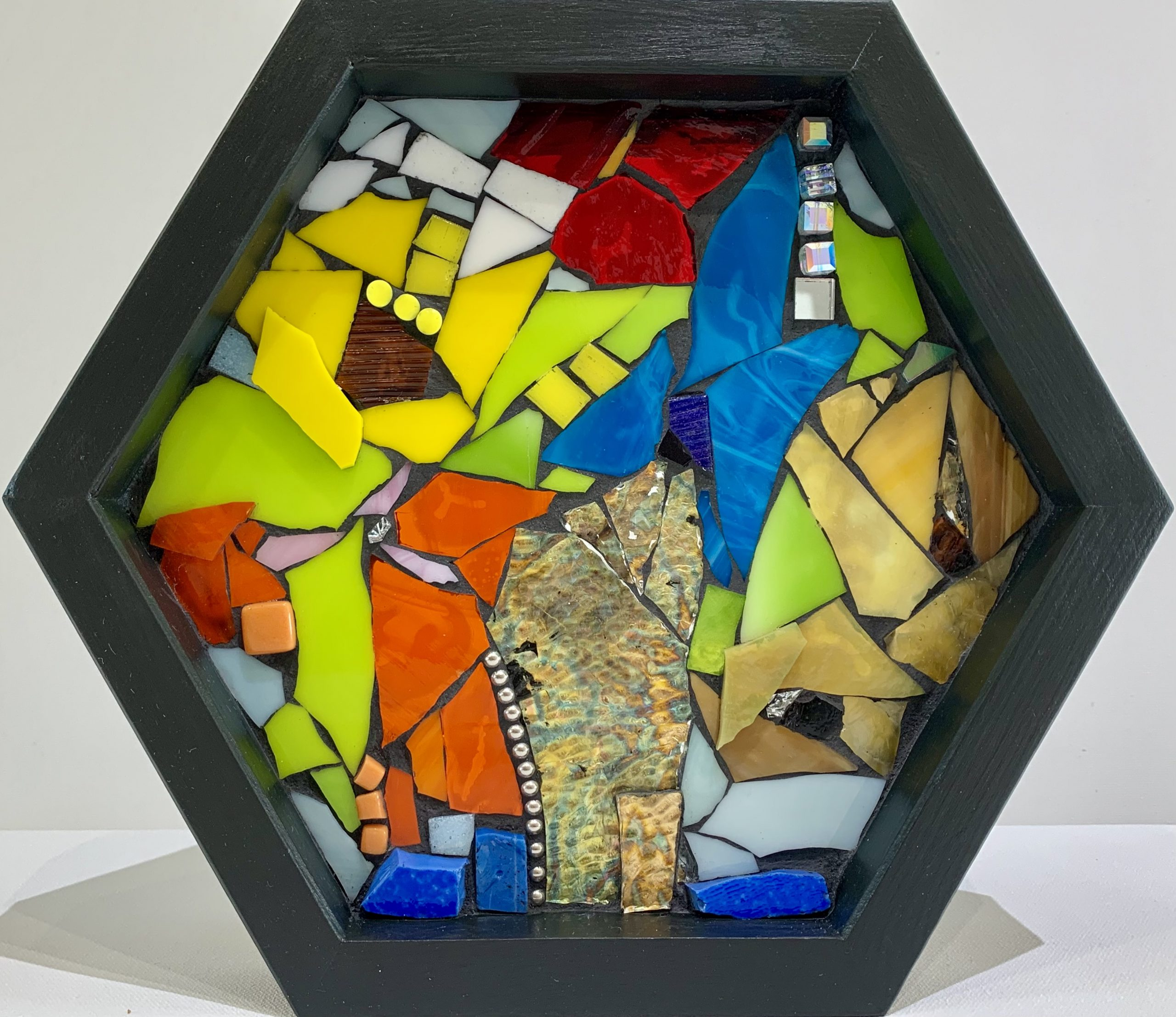 To Light Up, stained glass mosaic by Kimberly Kiel | Effusion Art Gallery + Cast Glass Studio, Invermere BC
