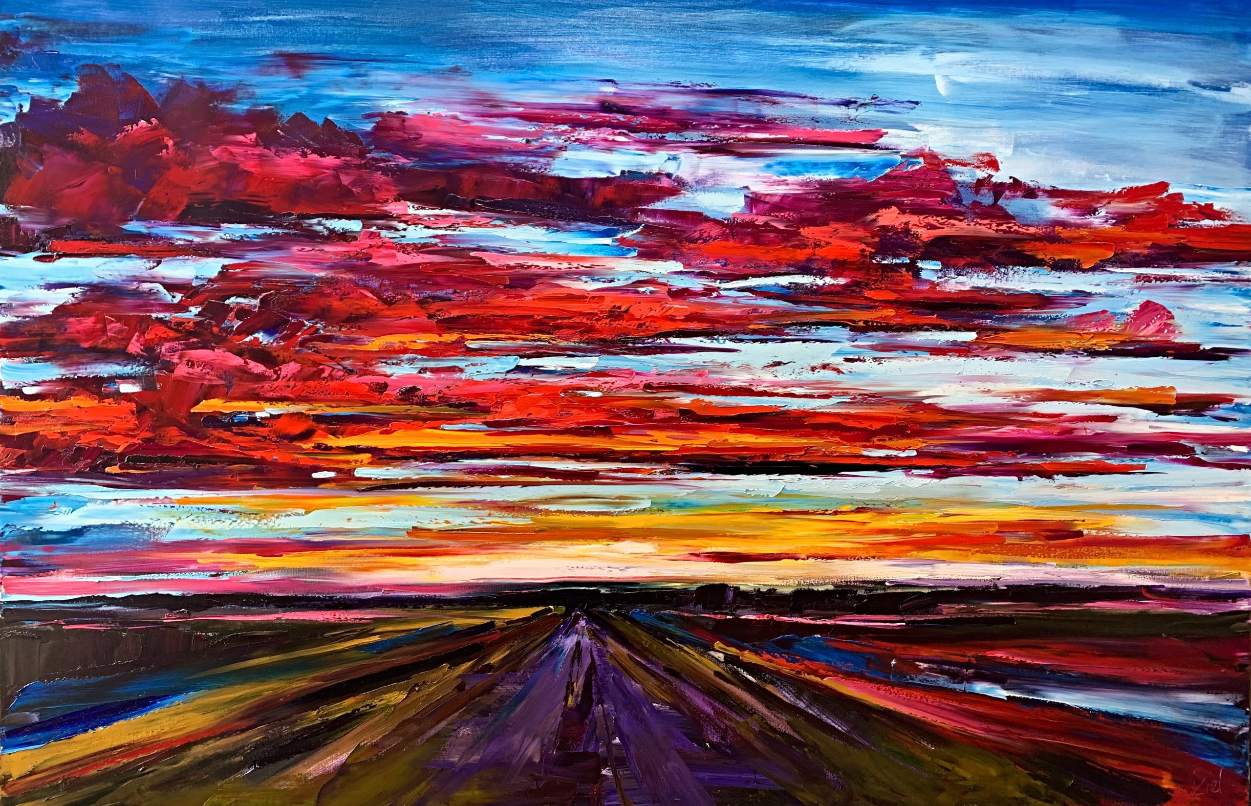 Wonders Never Cease, oil landscape painting by Kimberly Kiel | Effusion Art Gallery + Cast Glass Studio, Invermere BC