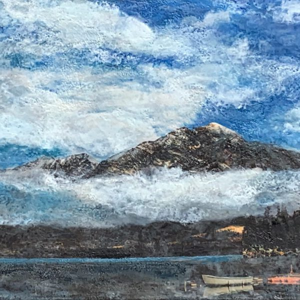 Almost Heaven, encaustic landscape painting by Lee Anne LaForge   Effusion Art Gallery + Cast Glass Studio, Invermere BC
