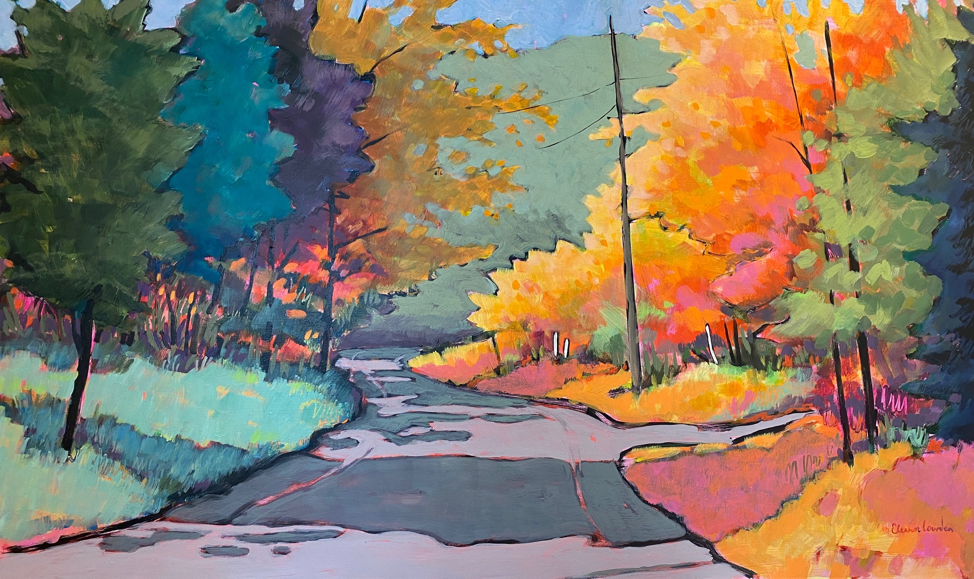 I Created a World for You, acrylic landscape painting by Eleanor Lowden | Effusion Art Gallery + Cast Glass Studio, Invermere BC