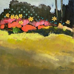 We Came to Cheer You Up, acrylic landscape painting by Eleanor Lowden | Effusion Art Gallery + Cast Glass Studio, Invermere BC