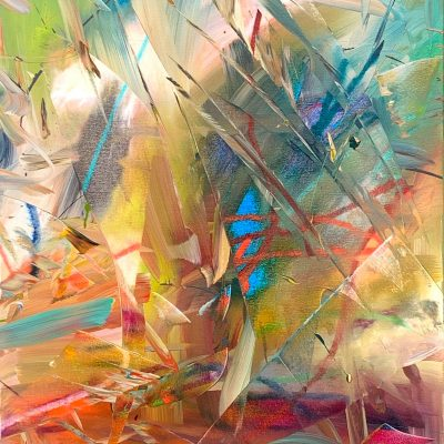 Summer Encryption, abstract painting by Joel Masewich   Effusion Art Gallery + Cast Glass Studio, Invermere BC