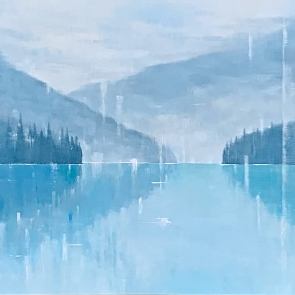Time of Silence, landscape painting by Gina Sarro   Effusion Art Gallery + Cast Glass Studio, Invermere BC