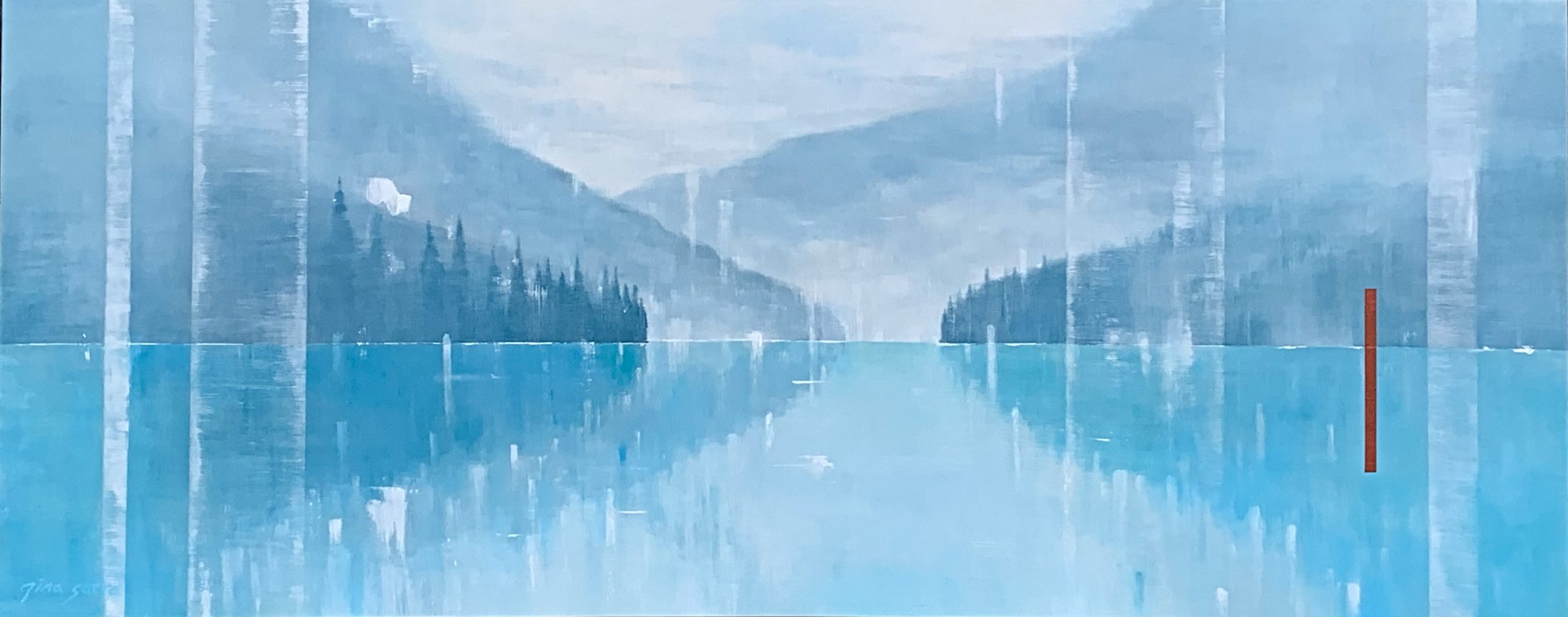 Time of Silence, landscape painting by Gina Sarro | Effusion Art Gallery + Cast Glass Studio, Invermere BC