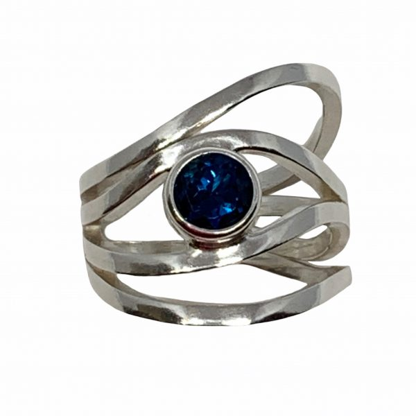 Sterling silver and London topaz ring by A&R Jewellery   Effusion Art Gallery + Cast Glass Studio, Invermere BC