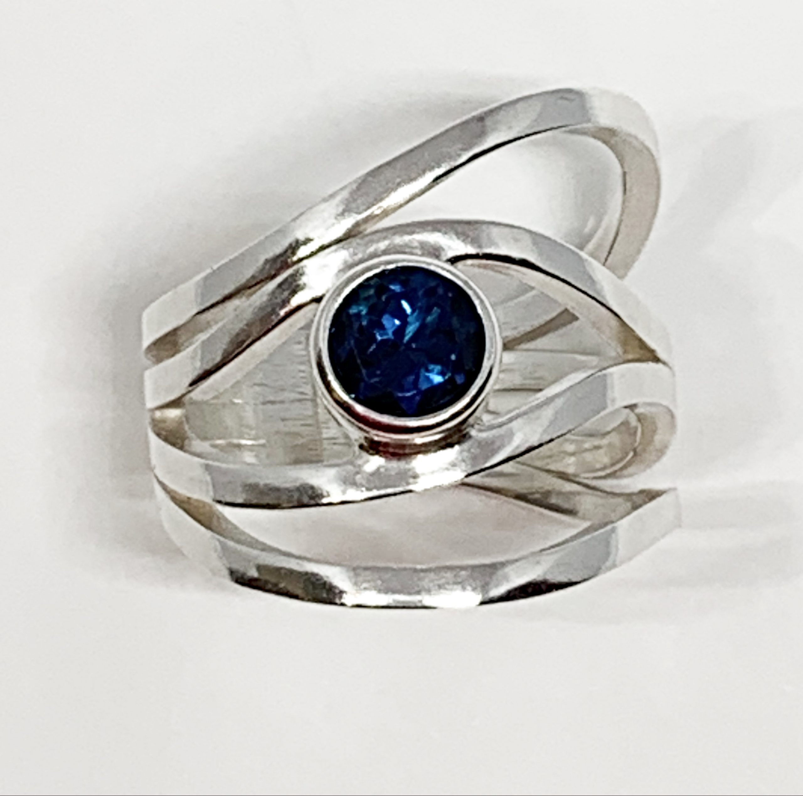 1ct London topaz + sterling silver ring by A&R Jewellery   Effusion Art Gallery + Cast Glass Studio, Invermere BC