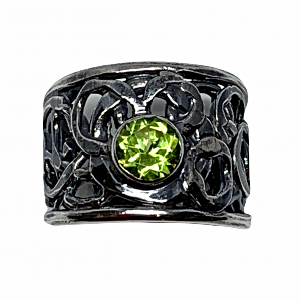 Sterling silver and peridot ring by A&R Jewellery   Effusion Art Gallery + Cast Glass Studio, Invermere BC