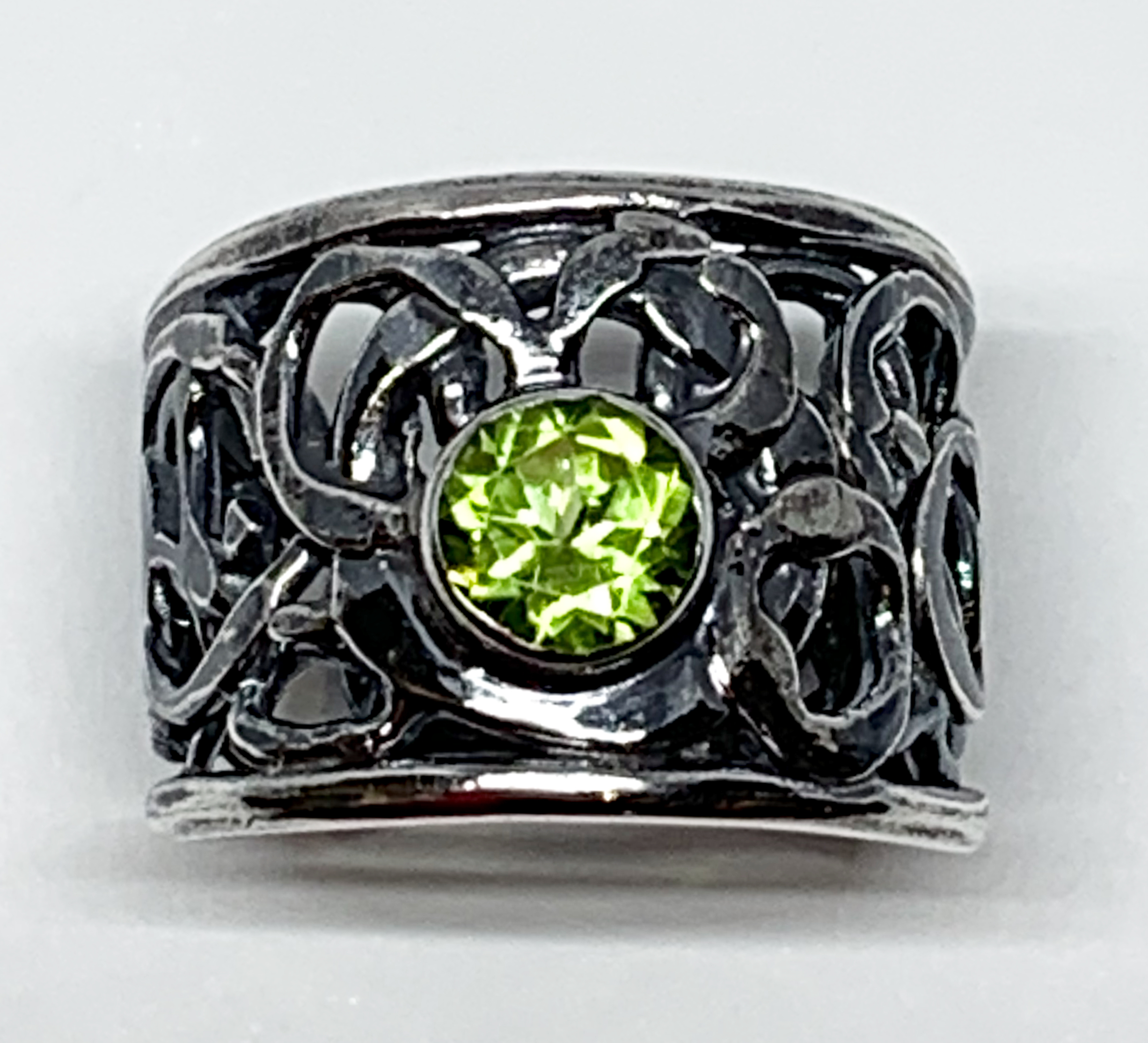 1ct peridot + sterling silver ring by A&R Jewellery   Effusion Art Gallery + Cast Glass Studio, Invermere BC