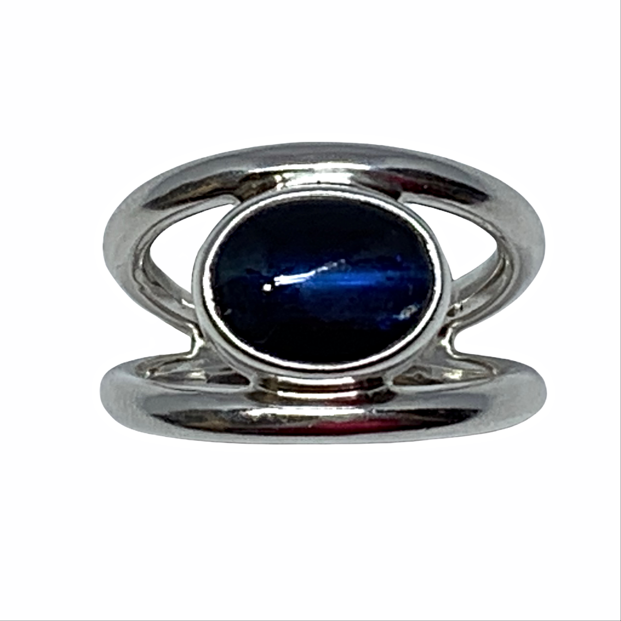 Sterling silver and blue kyanite ring by A&R Jewellery   Effusion Art Gallery + Cast Glass Studio, Invermere BC