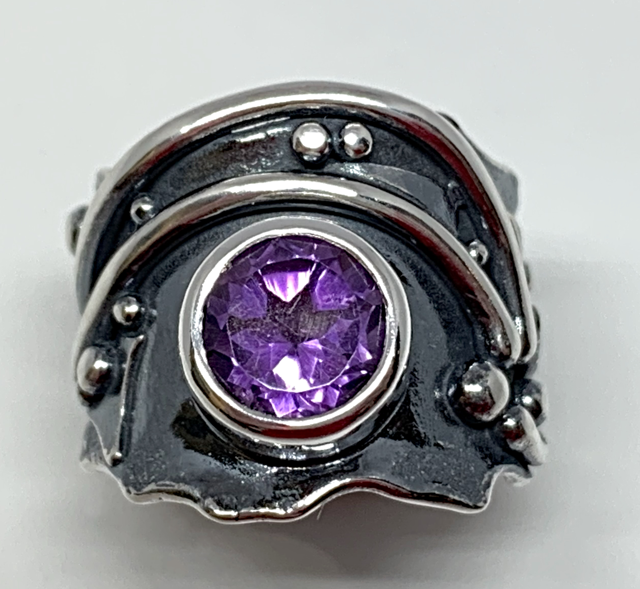 2ct amethyst + sterling silver ring by A&R Jewellery   Effusion Art Gallery + Cast Glass Studio, Invermere BC