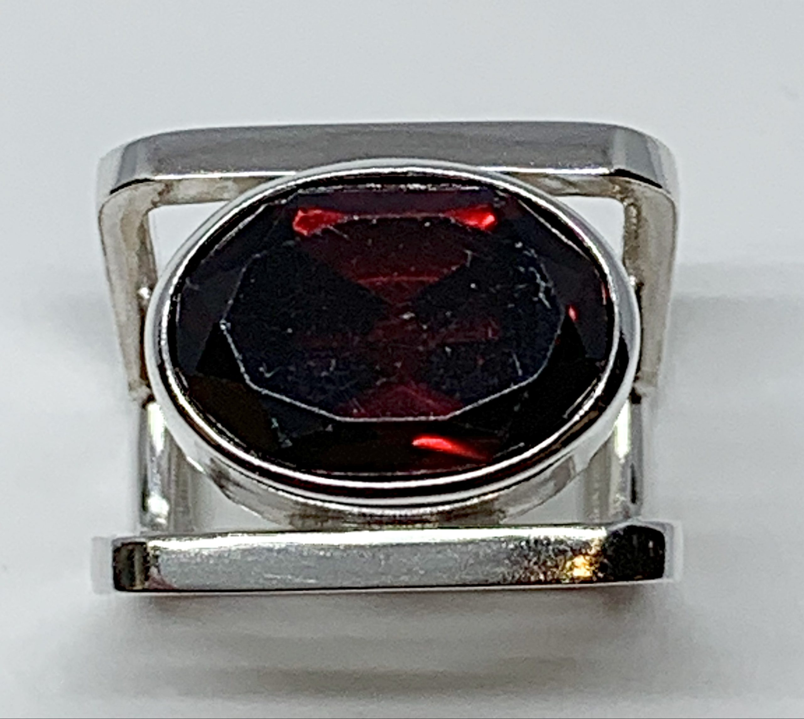 9 ct garnet + sterling silver ring by A&R Jewellery   Effusion Art Gallery + Cast Glass Studio, Invermere BC