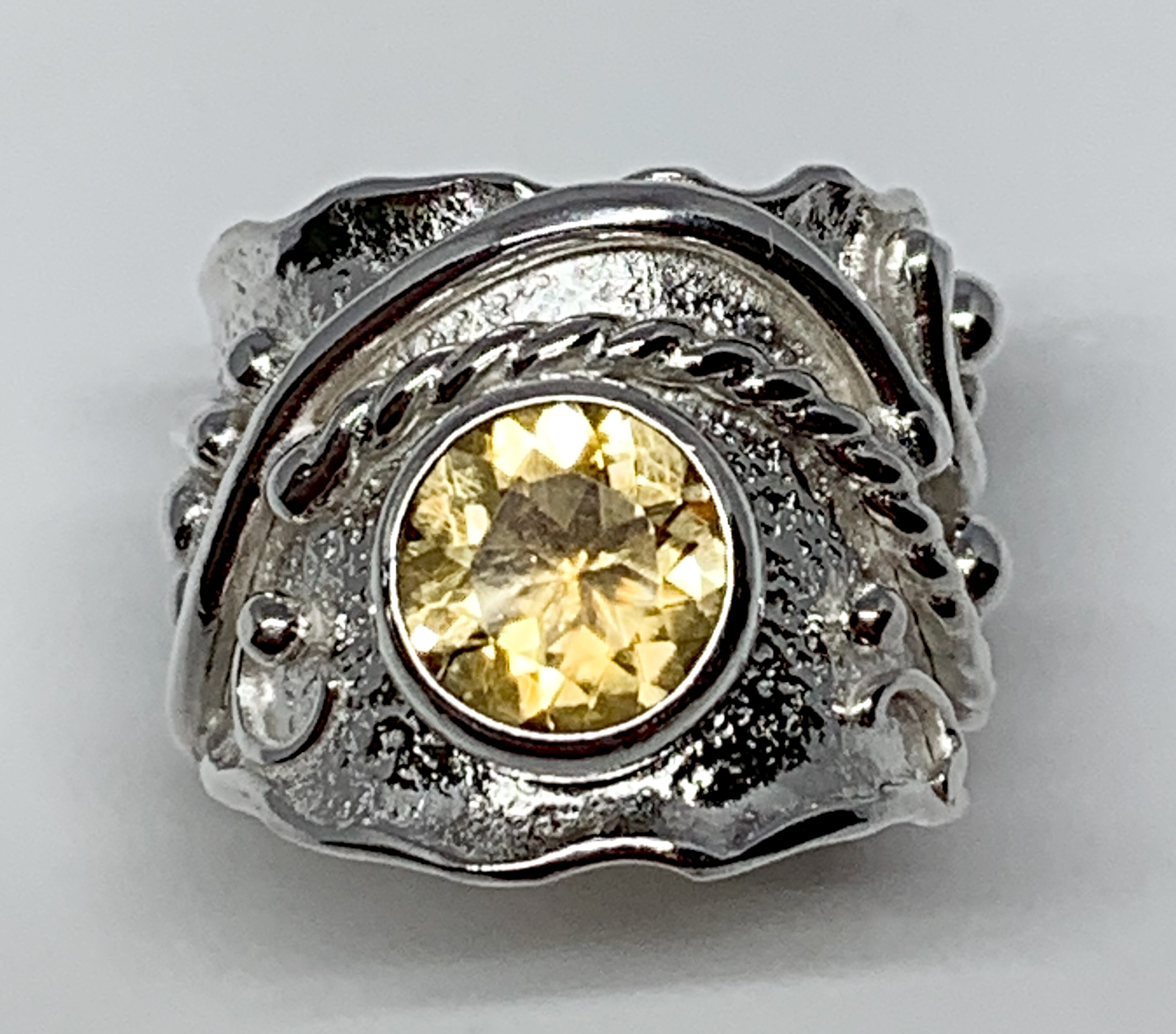 2.25ct citrine + sterling silver ring by A&R Jewellery | Effusion Art Gallery + Cast Glass Studio, Invermere BC