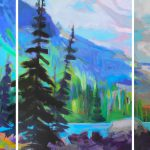 Color Me Happy, acrylic landscape by Becky Holuk | Effusion Art Gallery + Cast Glass Studio, Invermere BC