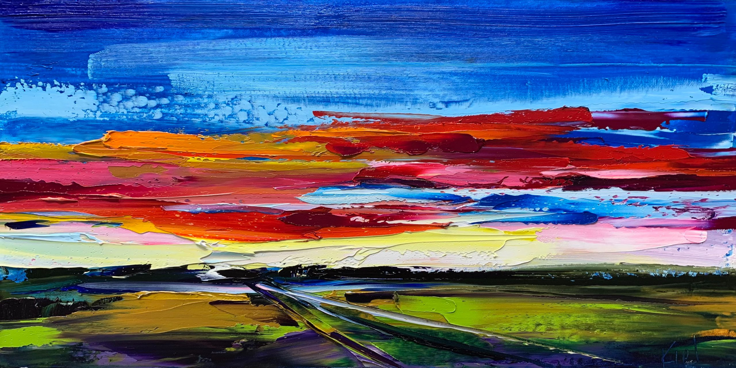 A Long Slow Exhale, oil landscape painting by Kimberly Kiel   Effusion Art Gallery + Cast Glass Studio, Invermere BC