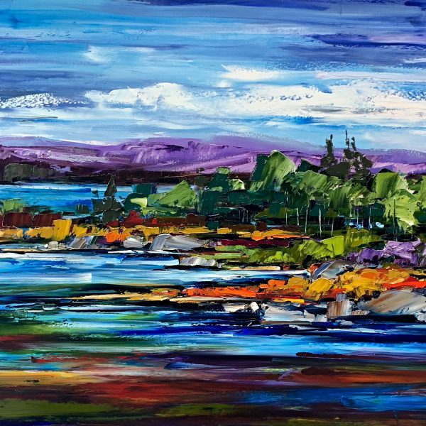 In the Grand Scheme of Things, oil landscape painting by Kimberly Kiel   Effusion Art Gallery + Cast Glass Studio, Invermere BC