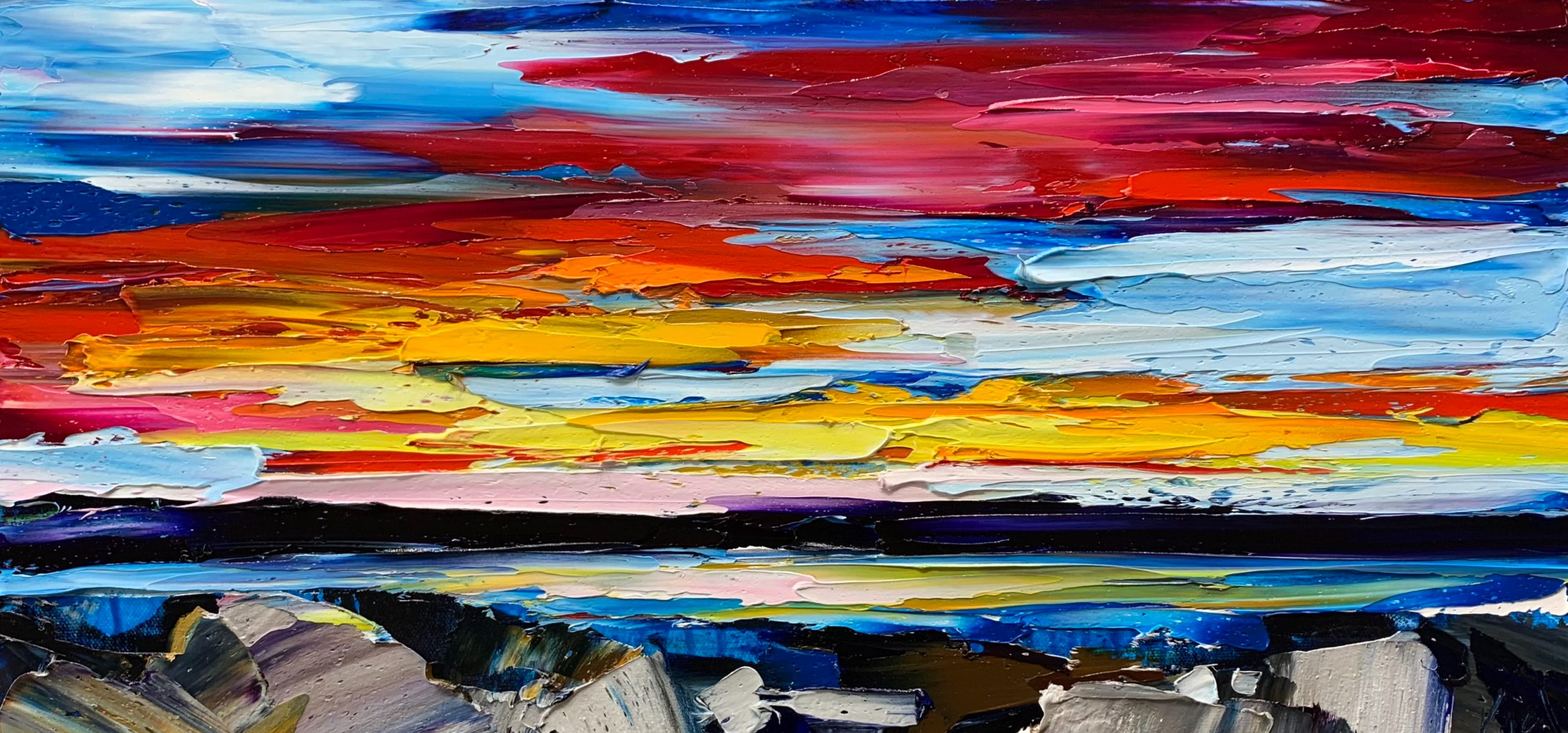 When the Sun goes Down Again, oil landscape painting by Kimberly Kiel   Effusion Art Gallery + Cast Glass Studio, Invermere BC