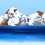 Rocheuses 621, acrylic mountain landscape by Stephanie Rivet | Effusion Art Gallery + Cast Glass Studio, Invermere BC