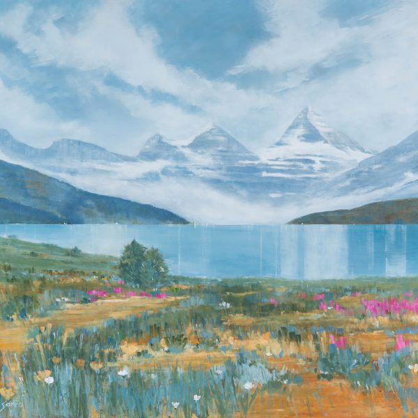 Quiet Echoes, acrylic landscape by Gina Sarro   Effusion Art Gallery + Cast Glass Studio, Invermere BC