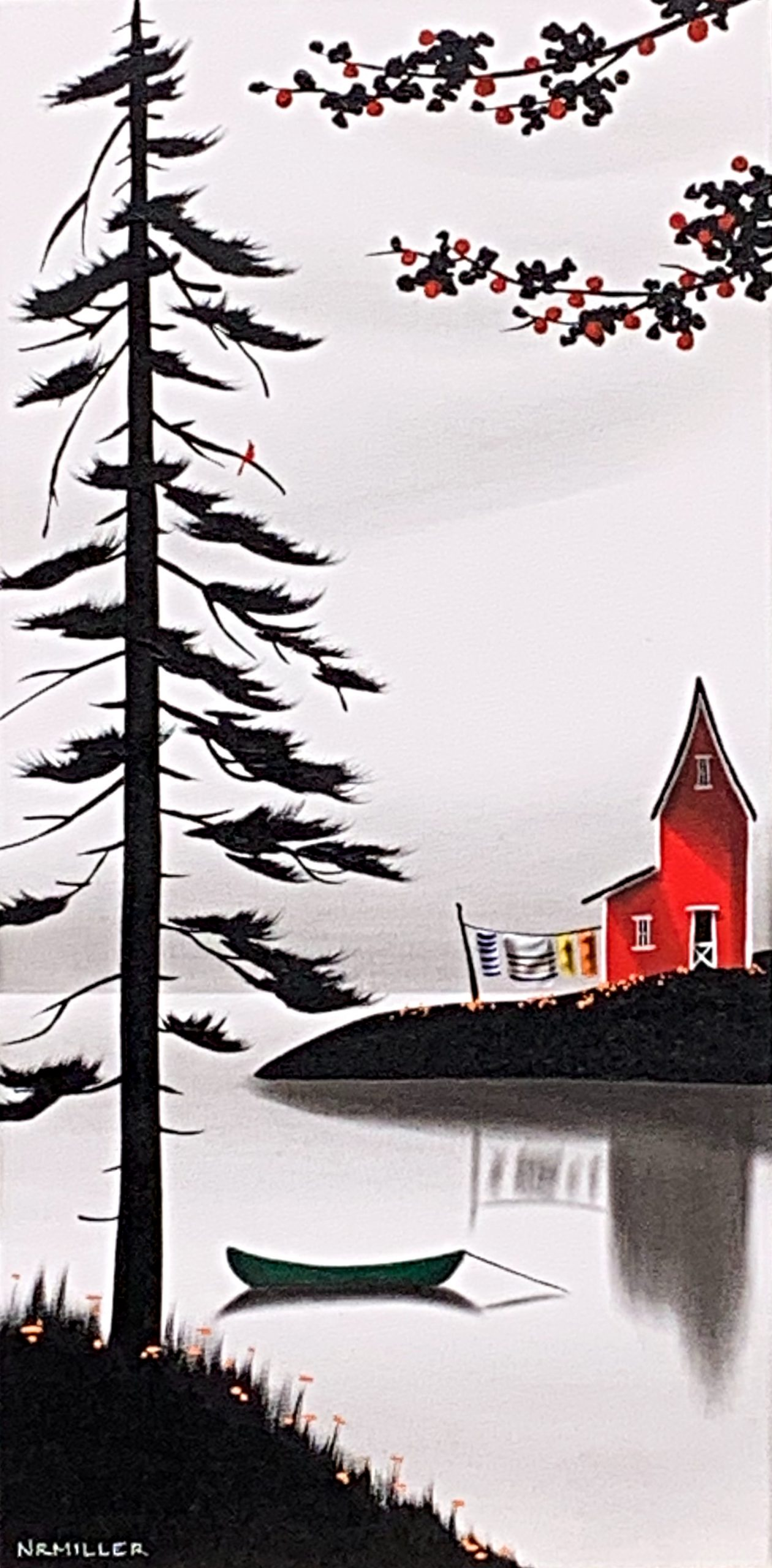 Whichever Way the Wind Blows, mixed media landscape painting by Natasha Miller   Effusion Art Gallery + Cast Glass Studio, Invermere BC