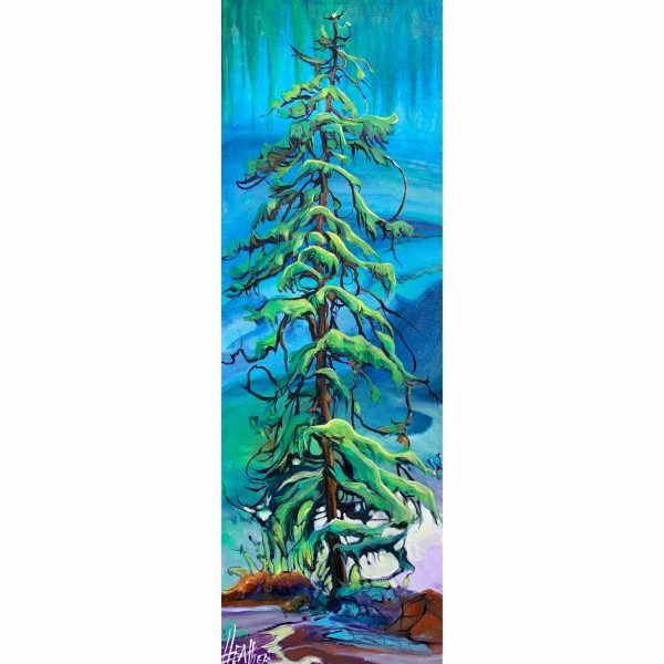Sass-a-Frassey, acrylic landscape by Heather Pant | Effusion Art Gallery + Cast Glass Studio, Invermere BC