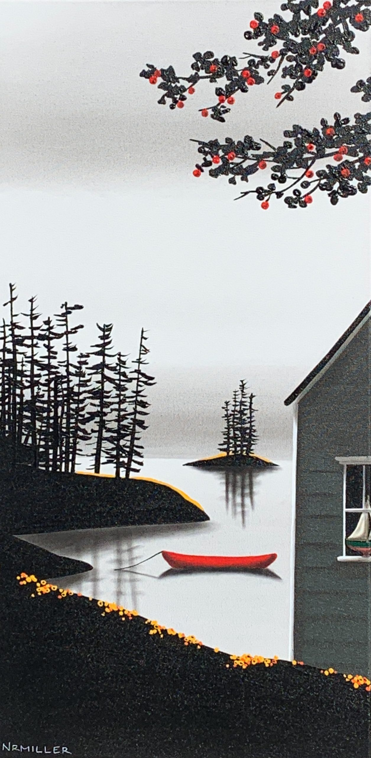 After All, mixed media landscape by Natasha Miller | Effusion Art Gallery + Cast Glass Studio, Invermere BC