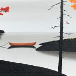 Autumn Closing In, mixed media landscape by Natasha Miller | Effusion Art Gallery + Cast Glass Studio, Invermere BC