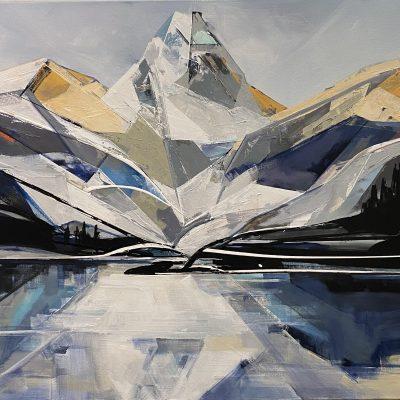 Mount Assiniboine, landscape painting by Katie Leahul   Effusion Art Gallery + Cast Glass Studio, Invermere BC