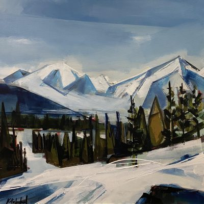 Panorama, landscape painting by Katie Leahul   Effusion Art Gallery + Cast Glass Studio, Invermere BC