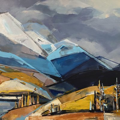 Windermere Lake, landscape painting by Katie Leahul   Effusion Art Gallery + Cast Glass Studio, Invermere BC