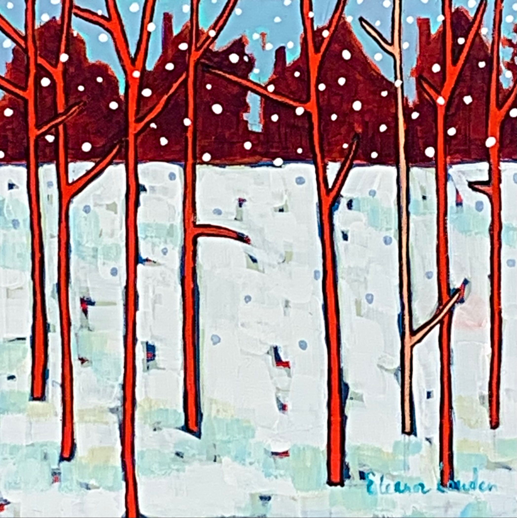 Coyote Watch, landscape painting by Eleanor Lowden | Effusion Art Gallery + Cast Glass Studio, Invermere BC